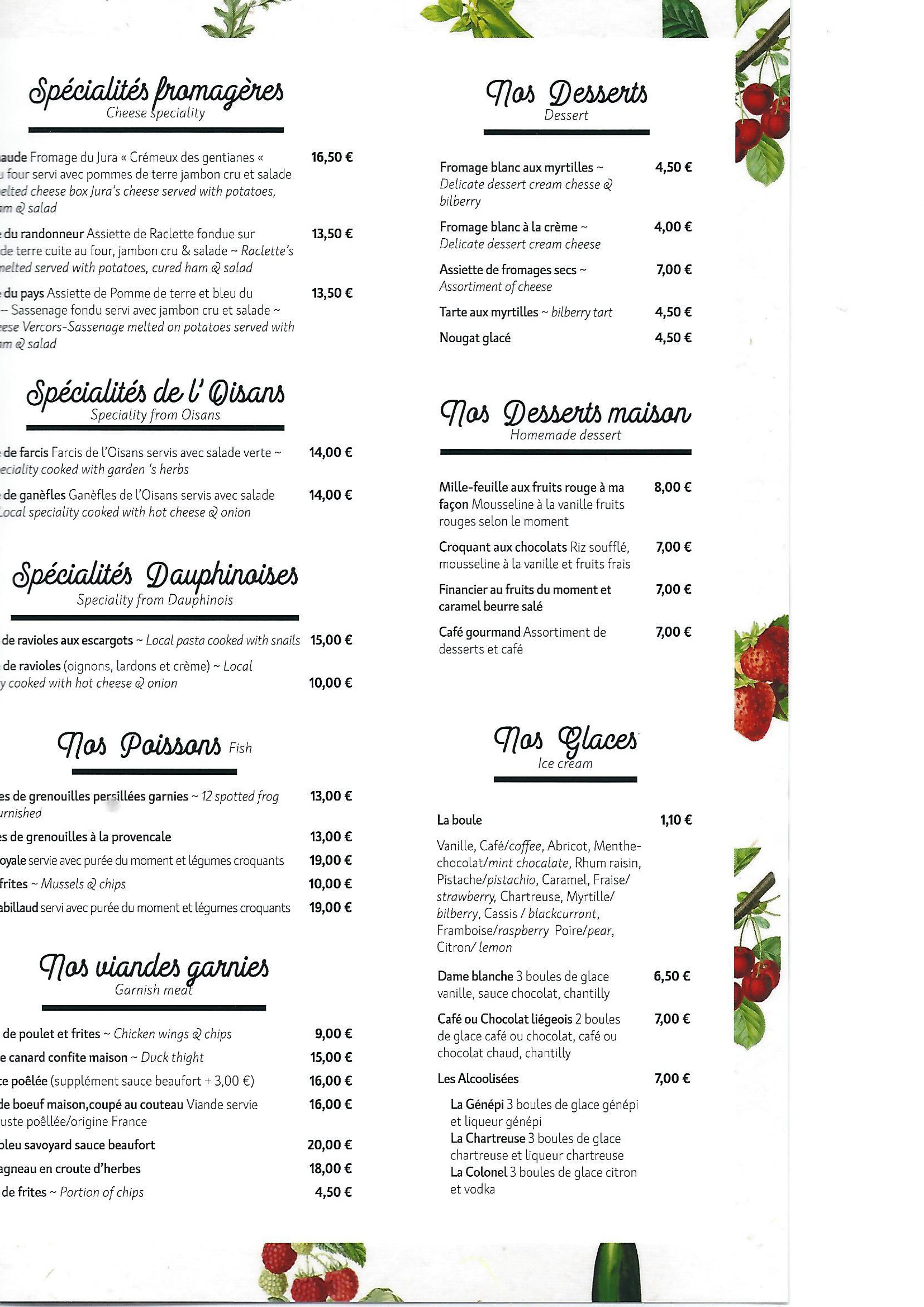 Carte menu restaurant 2 Passoud